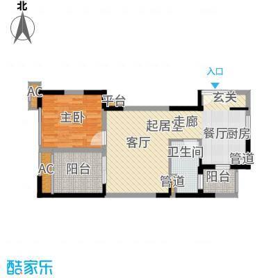 懿峰雅居61.00㎡L栋C型单位户型