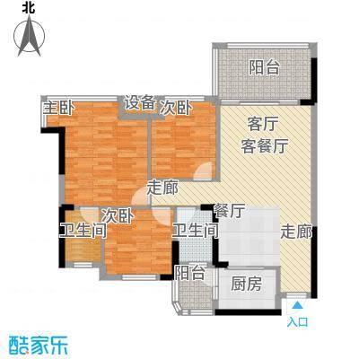 景源公园一号112.00㎡2号楼2单元D/E3室户型