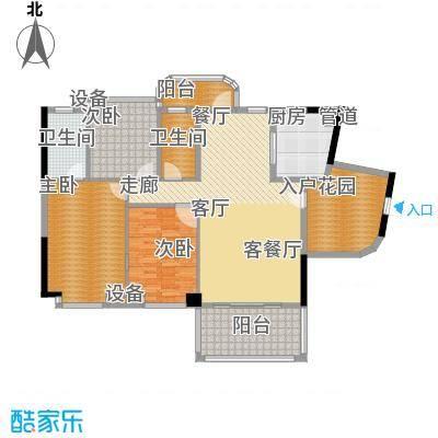 景源公园一号151.35㎡一号楼1单元B3室户型