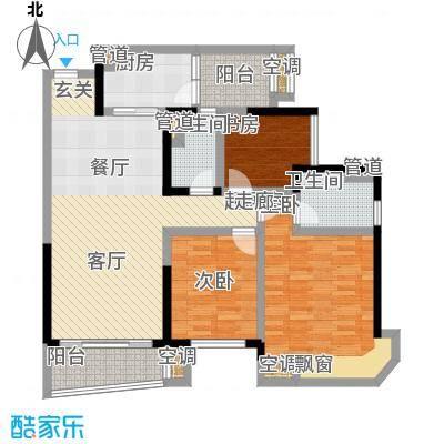 碧桂园城市花园106.00㎡碧桂园・城市花园J363tA户型
