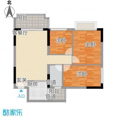 锦绣御景国际89.00㎡城央华府34座04户型