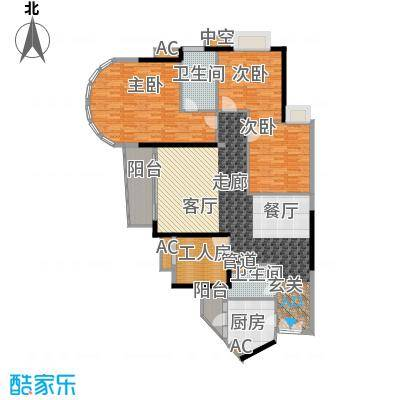 珠江帝景苑145.00㎡克莱国际公寓面积14500m户型