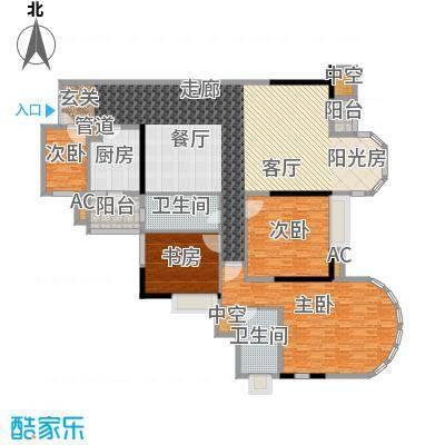 珠江帝景苑165.01㎡F栋F、G面积16501m户型