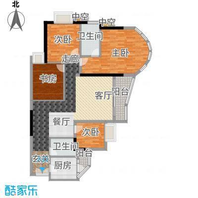 珠江帝景苑149.00㎡公寓F座E单元面积14900m户型
