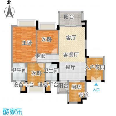 广佛新世界庄园139.00㎡嘉朗湖畔户型