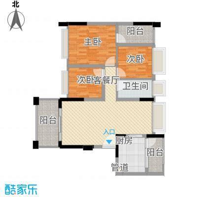 金马香颂居106.37㎡香颂环街1栋01单元3室户型