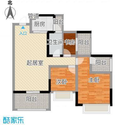 金马香颂居102.45㎡香颂环街1栋03单元3室户型
