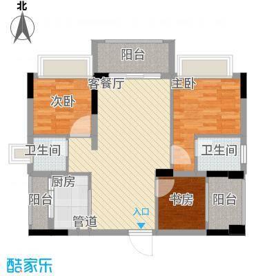 金马香颂居91.96㎡香颂环街4栋01户型
