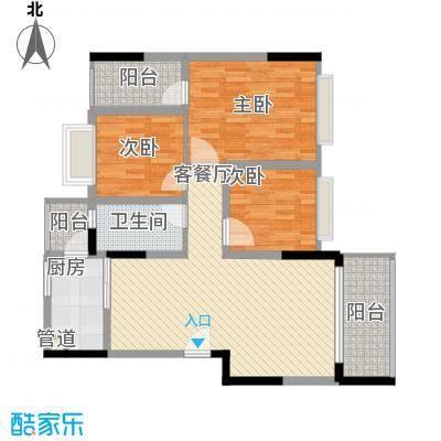 金马香颂居109.57㎡香颂环街1栋04单元3室户型