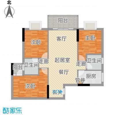 惠百氏广场87.55㎡14-3栋06户型