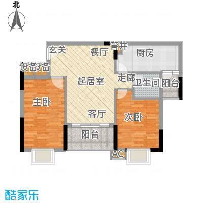 惠百氏广场66.20㎡14-2栋02户型