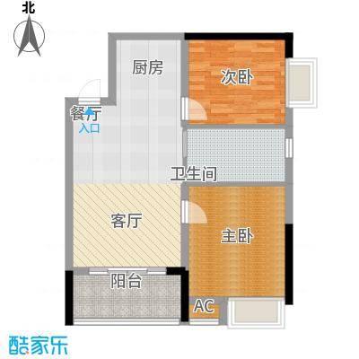 柏丽星寓70.00㎡星悦1栋2-14层标准公寓单位户型