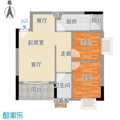 惠百氏广场68.86㎡14-5栋03户型