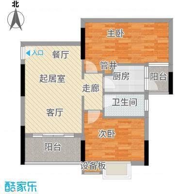 惠百氏广场70.38㎡14-1栋02户型