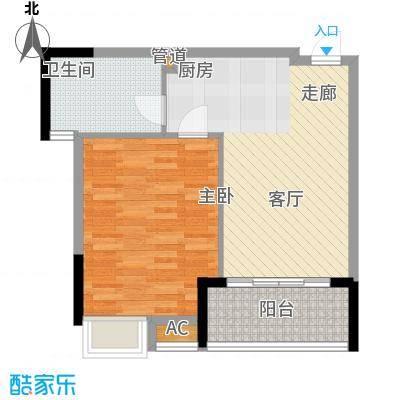 柏丽星寓56.00㎡星悦1栋2-14层旅行团商务接待套房单位户型
