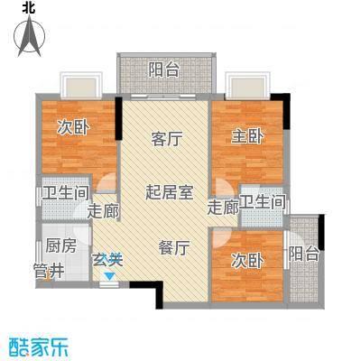惠百氏广场88.37㎡14-4栋04户型