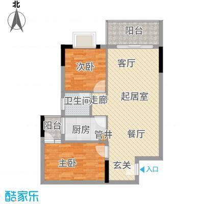 惠百氏广场68.86㎡14-4栋06户型