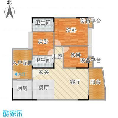 汉中紫薇苑102.00㎡汉中・紫薇苑银薇阁B户型