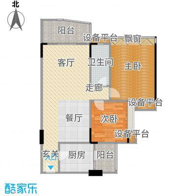 汉中紫薇苑92.00㎡汉中・紫薇苑翠薇阁C户型