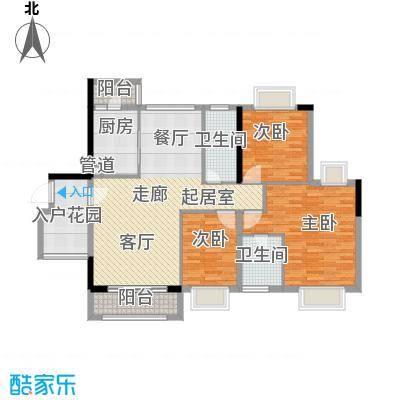 金龙居141.12㎡4-6栋2-16标准层03单元3室户型