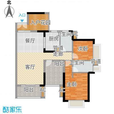 星河盛世108.87㎡一期3栋02单元2室户型
