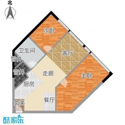 瑞安花园80.00㎡二期国际公寓E户型