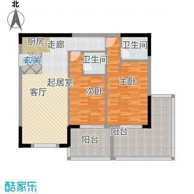 聚龙湖128.70㎡酒店公寓户型