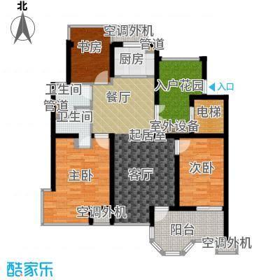 中梁香缇96.00㎡7#标准层D面积9600m户型