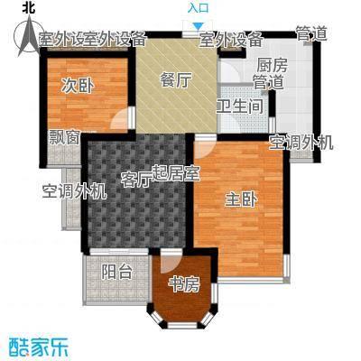 中梁香缇79.00㎡1#标准层A面积7900m户型