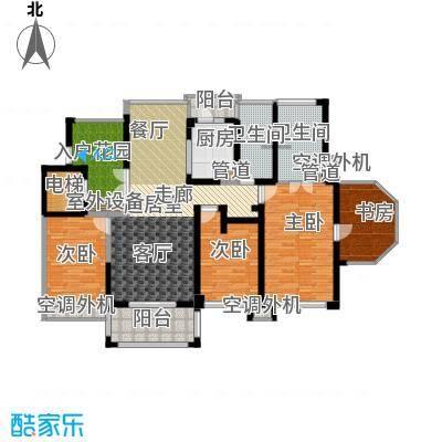 中梁香缇143.00㎡6#楼标准层H面积14300m户型