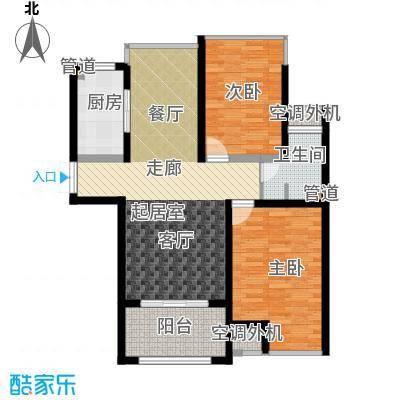 中梁香缇85.00㎡高层标准层C面积8500m户型