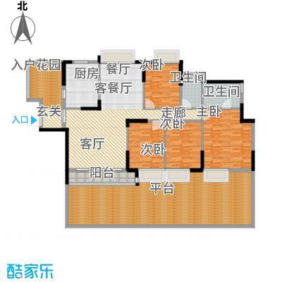 东山京士柏173.44㎡B栋第3层01单位户型
