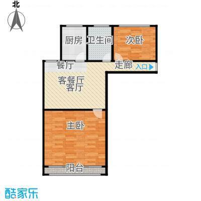 三里新城兰苑65.00㎡面积6500m户型