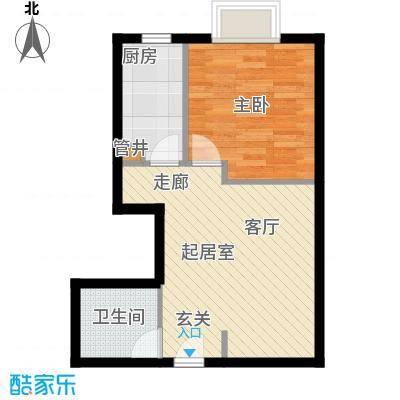 万达广场45.00㎡A11居室面积4500m户型