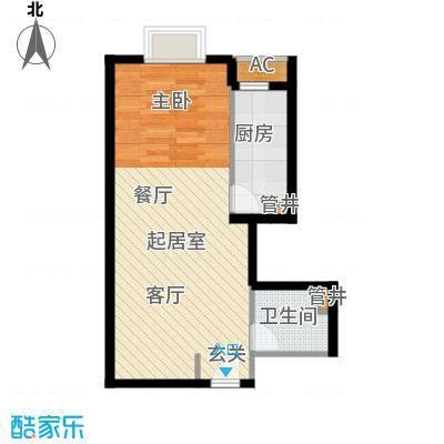 万达广场48.00㎡B1居室1面积4800m户型