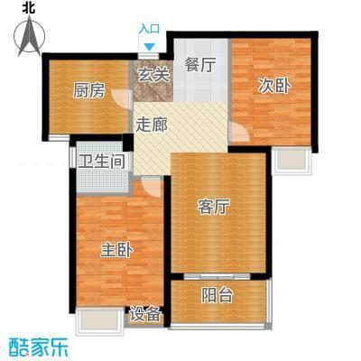 中建文化城89.00㎡6#7#号楼A1户面积8900m户型