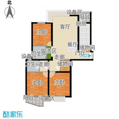 名门滨江苑153.69㎡上海面积15369m户型