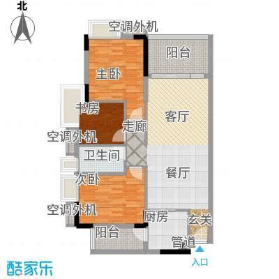 新时代家园92.86㎡1栋01/2栋03/3栋03单元3室户型