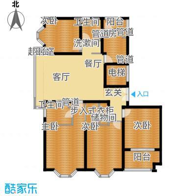 海逸公寓230.00㎡3面积23000m户型