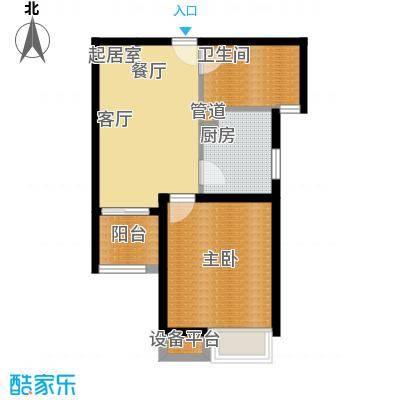 海逸公寓51.00㎡1面积5100m户型