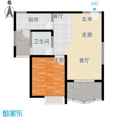 久华佳苑74.14㎡8栋15号面积7414m户型