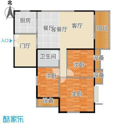 东华星域115.00㎡东华・星域B栋06单元3室户型