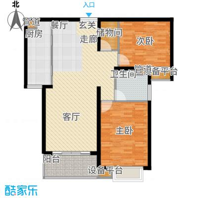 绿洲湖畔花园98.00㎡上海绿洲中环中心(绿洲湖畔花面积9800m户型