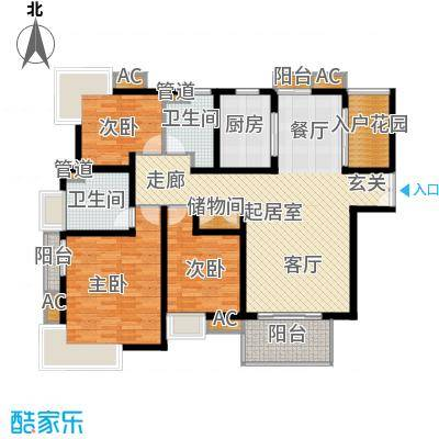 木杏新村121.00㎡2面积12100m户型