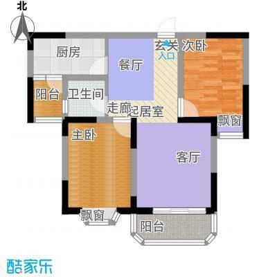 银宾新苑65.00㎡面积6500m户型