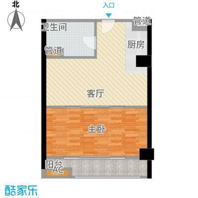 中翔丽晶55.00㎡高层标准户面积5500m户型