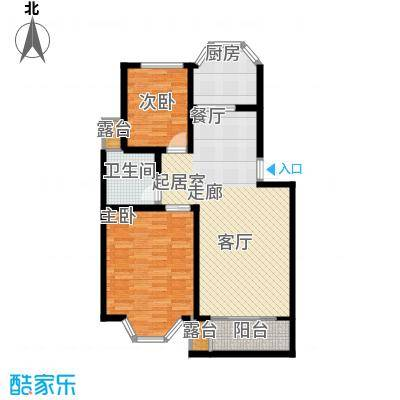 港岛花园88.75㎡一期38号楼标准面积8875m户型