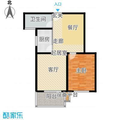 江南缘74.00㎡B房型面积7400m户型