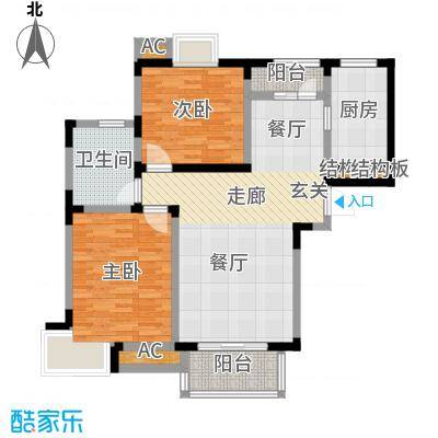 金苑新村95.00㎡1面积9500m户型
