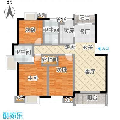 西街花苑128.00㎡2面积12800m户型